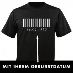 Barcode mit Geburtsdatum