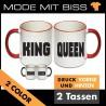 Tassen Set King & Queen 2