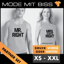 Tanktop Set Mr Right / Mrs Right