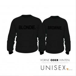Partner Pulli Set Blondie & Brownie black Edition