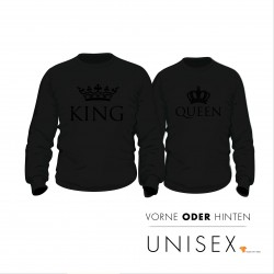 Partner Pulli Set KING & QUEEN Black
