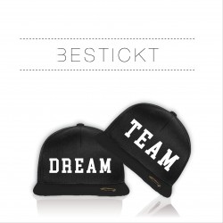 NEU Bestickte Bicolor Snapback Set Dream Team