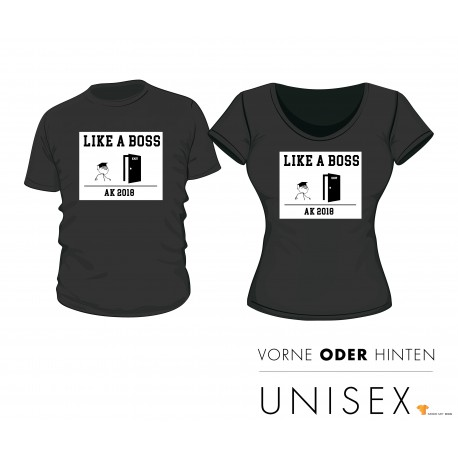"""Abschluss T-Shirt """"Like A Boss"""""""