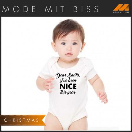 """Babystrampler """"Dear Santa"""""""