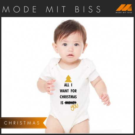 "Babystrampler ""All I want for Christmas"""