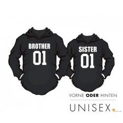 """Partner Hoody Set """"Brother and Sister"""" für Sie und Ihn"""