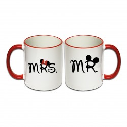 Tassen Set Mr. & Mrs.