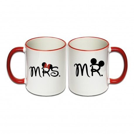 Tassen Set Mr. & Mrs.