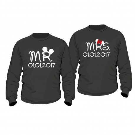 Partner Pulli Set Mr. & Mrs mit Wunschdatum