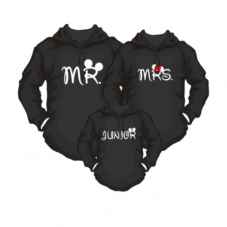 Hoody family Set Mr, Mrs & Jr
