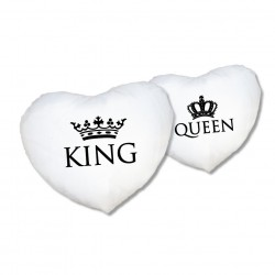 Herz Kissen Set King & Queen
