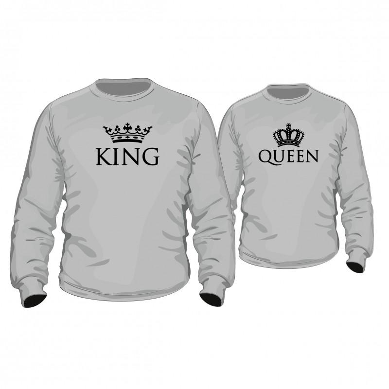 pulli set royal king queen f r sie und ihn couple partner. Black Bedroom Furniture Sets. Home Design Ideas