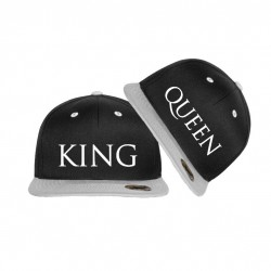 Bedruckte Bicolor Snapback Set King & Queen
