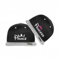 Bedruckte Bicolor Snapback Set Prince & Princess