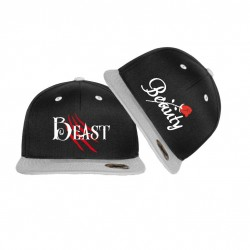 NEU! Bestickte Bicolor Snapback Set Beauty & Beast