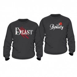 Partner Pulli Set Beauty & Beast mit Wunschdatum