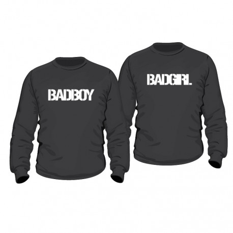 partner hoodies badboy badgirl f r sie und ihn. Black Bedroom Furniture Sets. Home Design Ideas