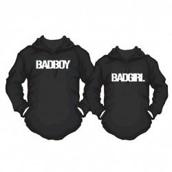 Partner Hoodie Set Badboy. & Badgirl. für Sie und Ihn