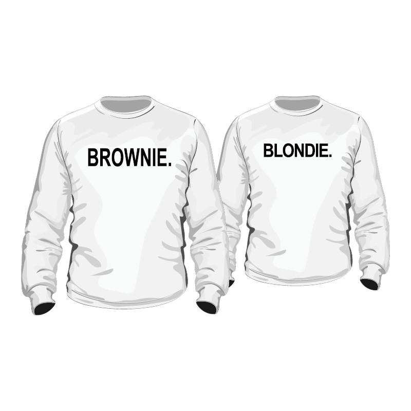 partner hoodies blondie brownie f r sie und ihn. Black Bedroom Furniture Sets. Home Design Ideas
