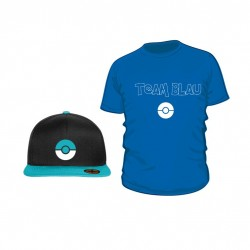 Pokemon Go Set (Shirt + Snapback) TEAM BLAU