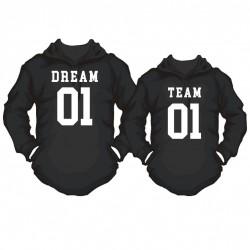 Partner Hoody Set Dream Team mit Wunschnummer