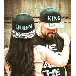 Floral Edition Snapback Set King Queen