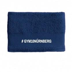GYM 10 Handtuch bestickt blau