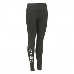 GYM 10 Damen Sport Leggings grau