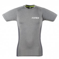 GYM 10 Herren oder Damen Slim Fit T-Shirt grau