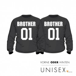 "Partner Pulli Set ""Brother and Brother"" für Ihn und Ihn"