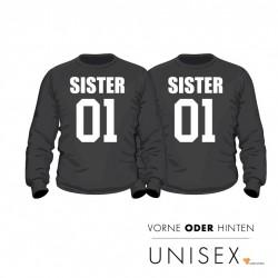 """Partner Pulli Set """"Sister and Sister"""" für Sie und Sie"""