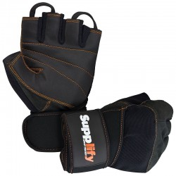 Supplify Hardcore Profi Gloves Handschuhe mit Handgelenkbandage, 1 Paar