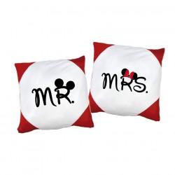 Kissenbezug Set Mr. & Mrs. mit oder ohne Füllung