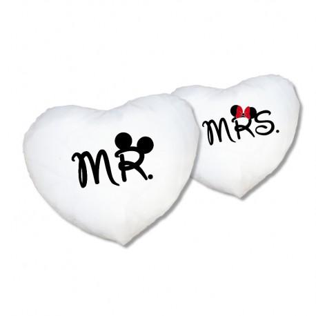 Herz Kissen Set Mr. & Mrs.