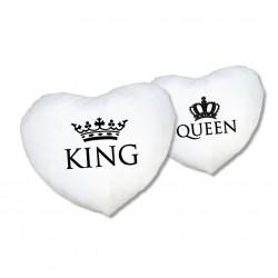 Herz Kissen Set King & Queen