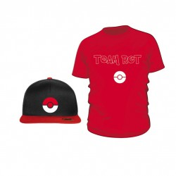 Pokemon Go Set (Shirt + Snapback) TEAM ROT