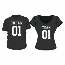 T-Shirt Set Dream Team mit Wunschdatum
