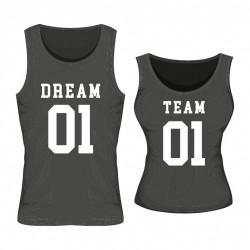 Tanktops Set Dream Team mit Wunschzahl