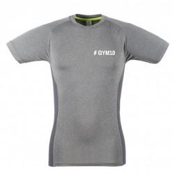 GYM 10 Herren oder Damen Slim Fit T-Shirt grau